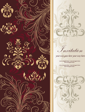 free vector decoration floral background