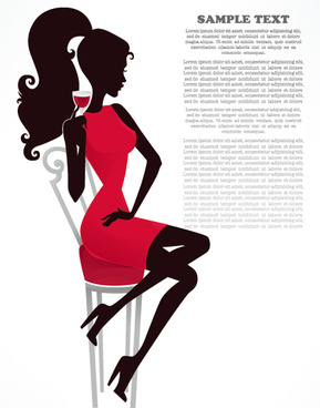 free vector fashion belle silhouettes