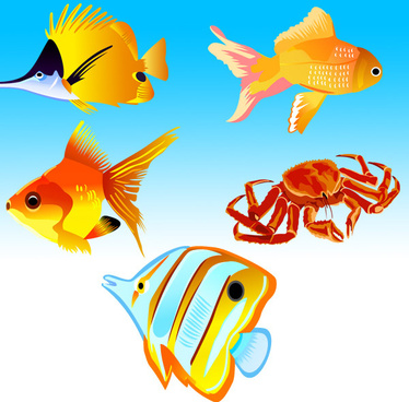 free vector fish icons