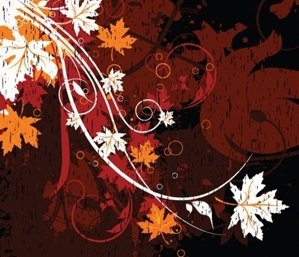 Free Vector Floral Grungy Background