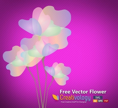 flower background transparent multicolored petals icon