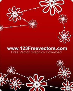 Free Vector Flower Background