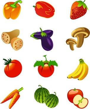 Free Vector Fruits