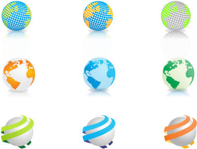 free vector globes