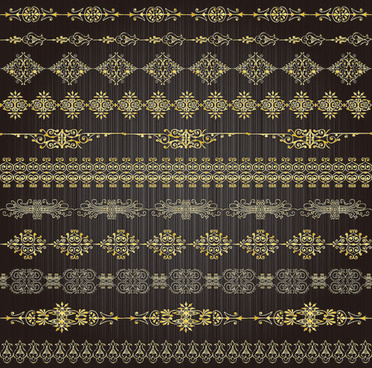 free vector golden lacy pattern