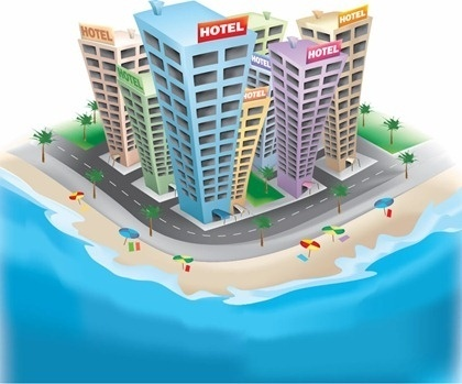 Hotel free vector download 495 free vector for for Design hotel 3d