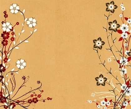 flowers background classical style colorful flat design
