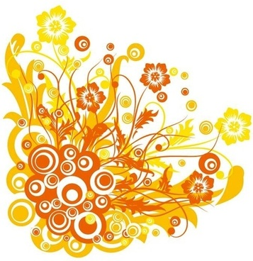 Free Vector Graphic  Flowers and Swirls