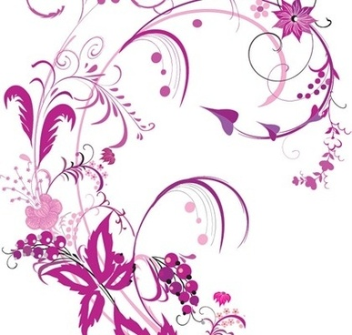 flowers background violet design classical curves decoration