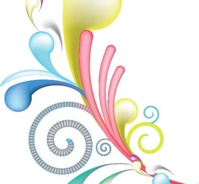abstract background design colorful curves sketch