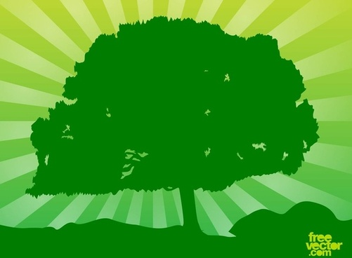 free vector green tree