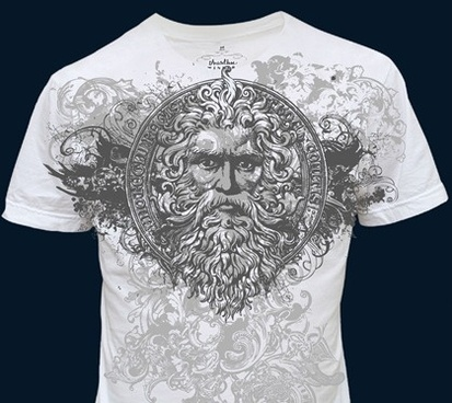 t shirt decoration design classical grunge style portrait style