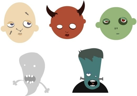 FREE VECTOR HALLOWEEN HEADS