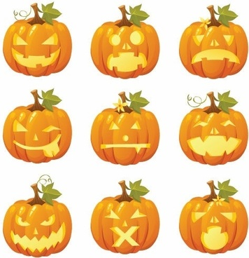 Free Vector Halloween Pumpkin Smiles