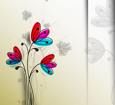 free vector hand drawn flower