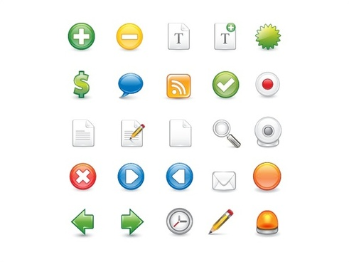 computing icons vector illustration with various shaped ui