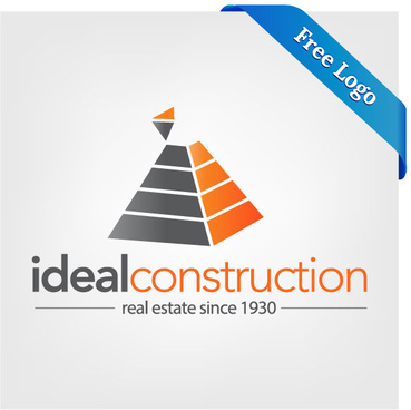 free vector ideal construction real estate logo