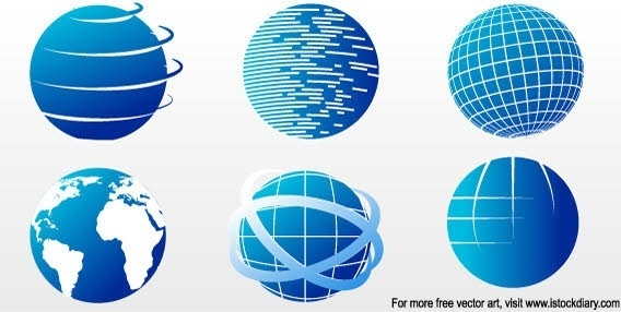 globe icon collection blue sphere design