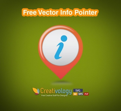 Free Vector Info Pointer