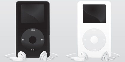 ipod advertising banner colored realistic style