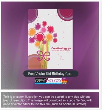 Free Vector Kid Birthday Card