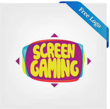 free vector large screen display video game logo