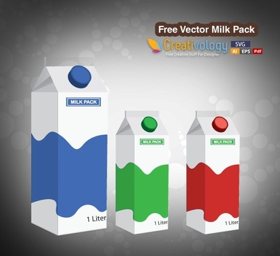 milk advertising banner paper pack icons 3d design