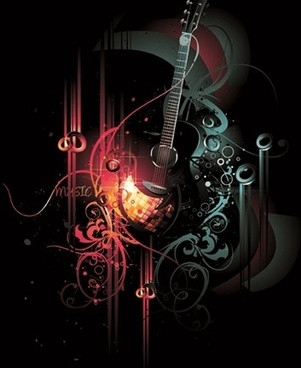 Free Vector Musical Theme of the Trend of Illustration 3