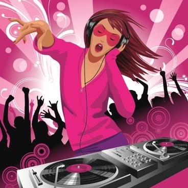 Free Vector Musical Theme of the Trend of Illustration 5