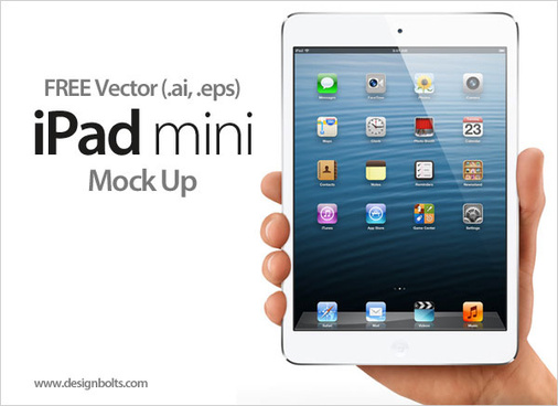 free vector new apple ipad mini tablet in