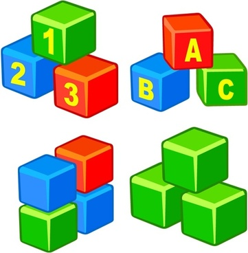 education cubes icons collection colorful 3d design