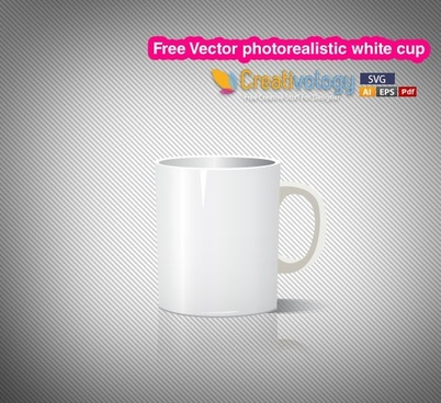 white cup background realistic 3d icon decor