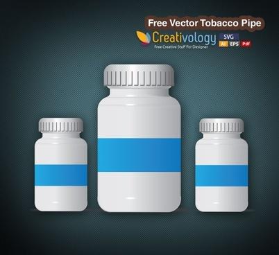 Free Vector Pill Bottle
