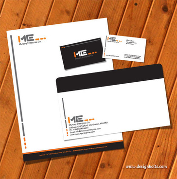 free vector printable stationery design template letterhead business card envelop