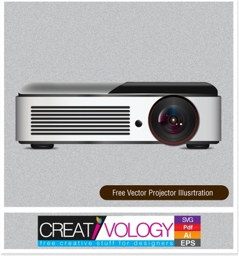 Free Vector Projector Illustration
