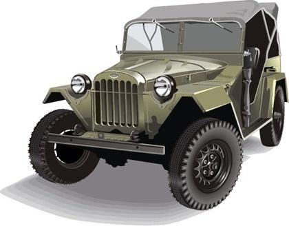 army jeep icon design colored realistic style