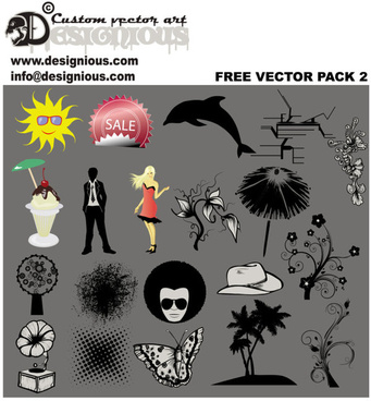 free vector silhouettes collection