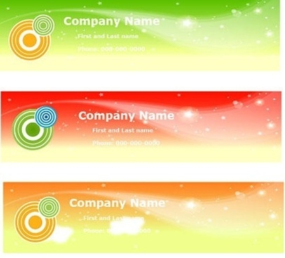 business name card collection colorful sparkling design