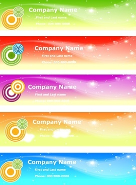 business name card sets horizontal colored sky style