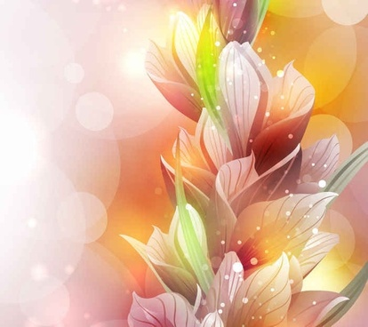 Free Vector Spring Lily Flower Background