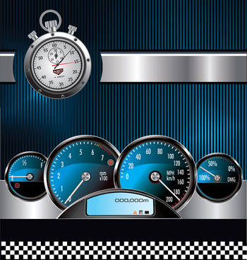 free vector stopwatch design elements