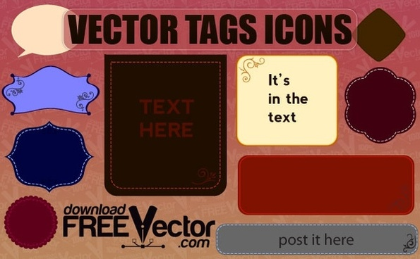 Free Vector Tags Icons