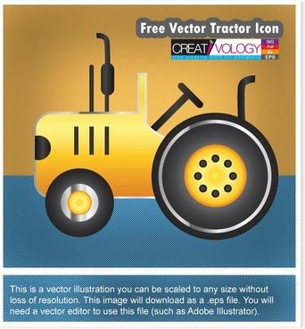 Free Vector Tractor Icon