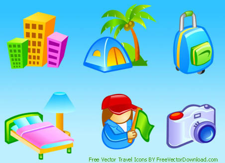 free vector travel icons