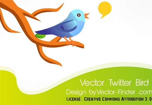 twittering bird theme colorful cartoon style