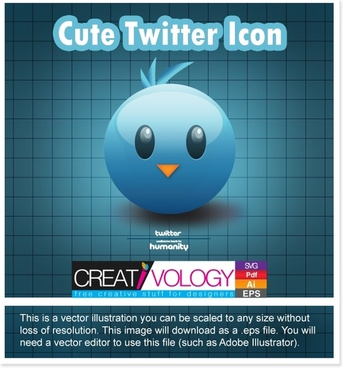 Free Vector Twitter icon