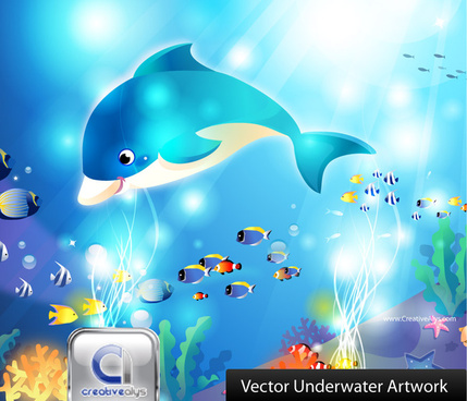 free vector underwater artwork