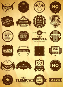 free vector vintage label set