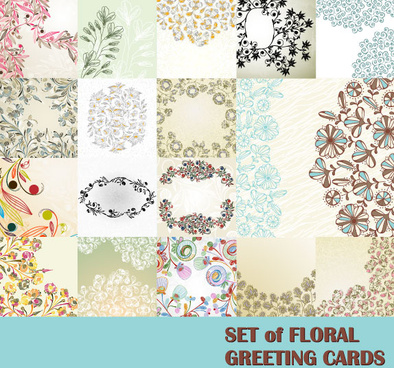 free vector with flowers lacy background