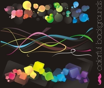 Free vectors: Colorful backgrounds